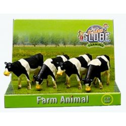 Bondgrådsdjur kor rasen Holstein. Kids Globe. Skala 1:50