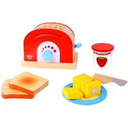 Brödrost leksak i trä leksak för barn Tooky Toy