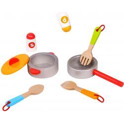 Kastrull, stekpanna, saltkar och pepparkar Tooky Toy