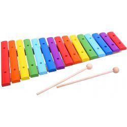 Xylofon i trä leksaksinstrument för barn Tooky Toy