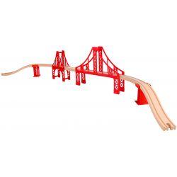 Tooky Toy Bro till tågset hängbro i trä