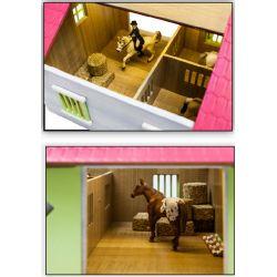 Kids Globe Häststall för hästar Schleich 2 st. stallboxar 1:24