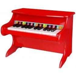 Leksakspiano i trä med fin klang Tooky Toy