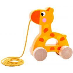 Giraff dragleksak i trä Tooky Toy