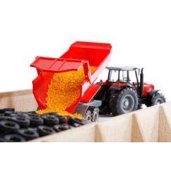 Kids Globe Plansilo i trä för Bruder traktorer 1:16
