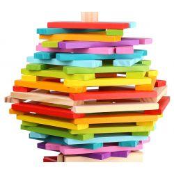 Tooky Toy Kaplastavar i trä med hela 100 delar bygg din egen stad
