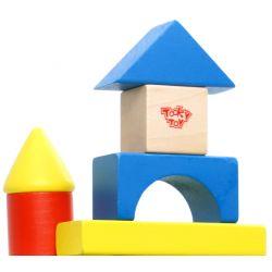 Tooky Toy Färgglada byggklossar paket med 50 delar