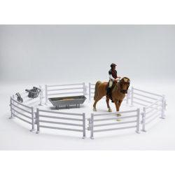 Kids Globe Häst med ryttare och tillbehör 1:24