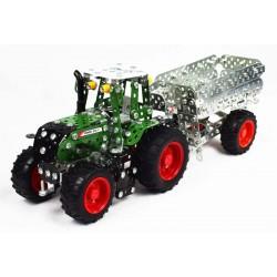 Traktor Fendt 313 Vario med trailer Byggsats Metall 1:32 Tronico