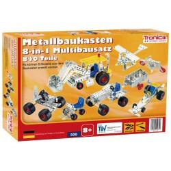 Byggmodeller 8 st. Leksaksfordon Byggmodell Metall Tronico
