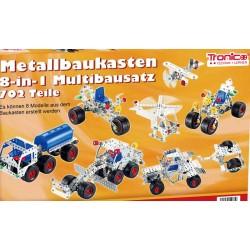 Byggmodeller 7 st. Leksaksfordon Byggsats Metall Tronico
