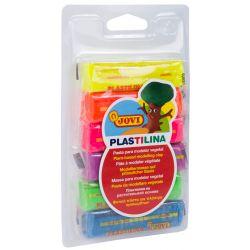 Neon Plastilina Modellera 6 st, 25 gram
