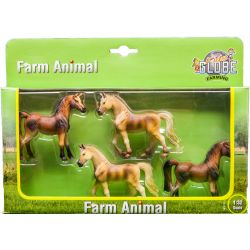 Kids Globe farm animal horse 4 pcs in giftbox 1:32