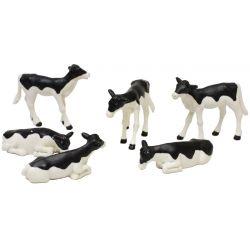 Kids Globe kalvar vita och svarta leksaksdjur