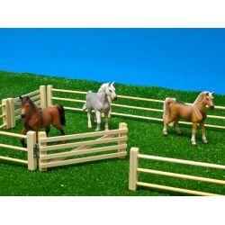 Kids Globe wooden fence 6 pcs 1:32