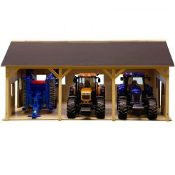 Kids Globe farm wood for 3 tractors 1:16