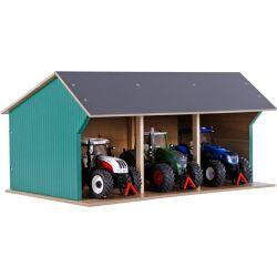 Maskinhall för Siku traktorer. Kids Globe. Skala 1:32