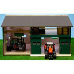 Maskinhall och verkstad för Siku traktorer. Kids Globe. Skala 1:32.