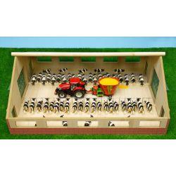Djurstall och bondgård för kalvar, kor, tjurar, får Schleich. Kids Globe. 1:32