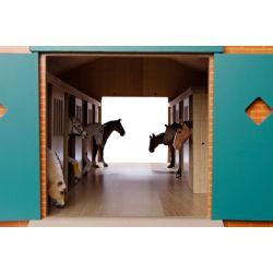 Häststall för hästar Schleich med 7 st. hästboxar. Kids Globe. Skala 1:24